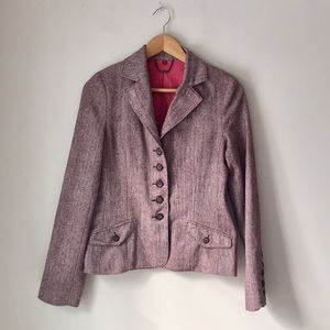 American Exchange Red Tweed Herringbone Blazer